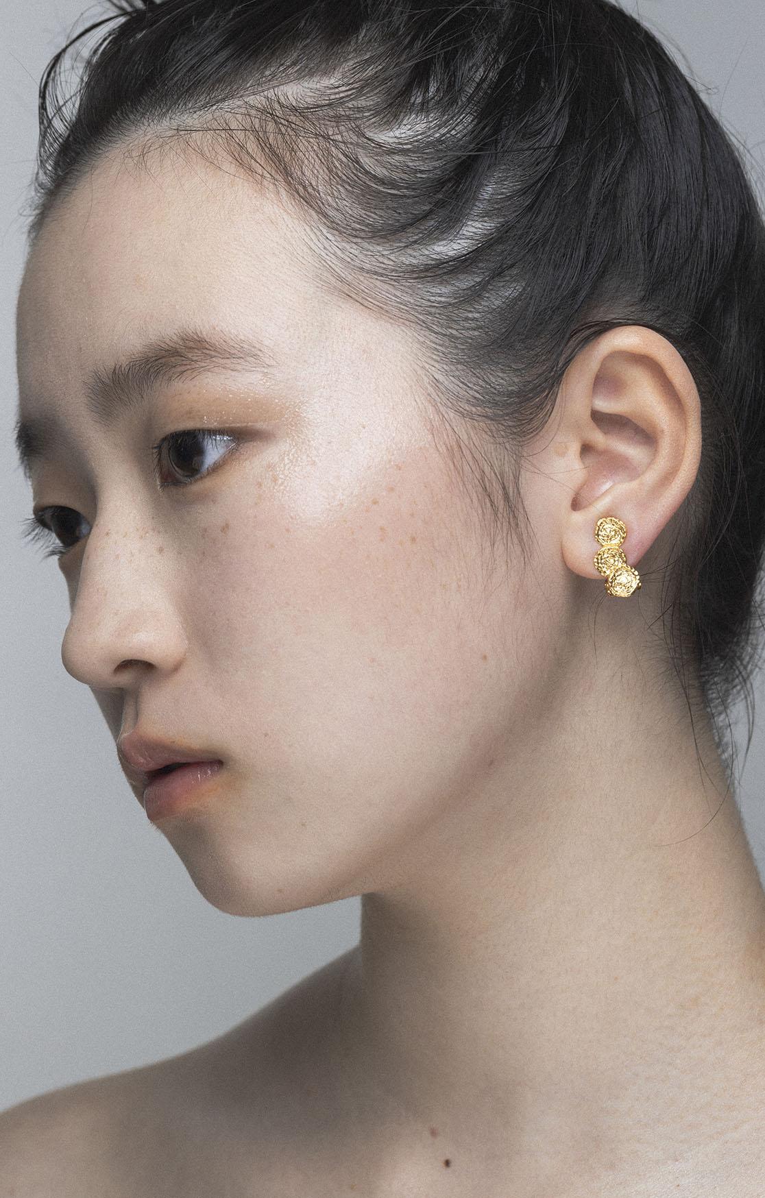 Knit Earring Silver925(24KGP)